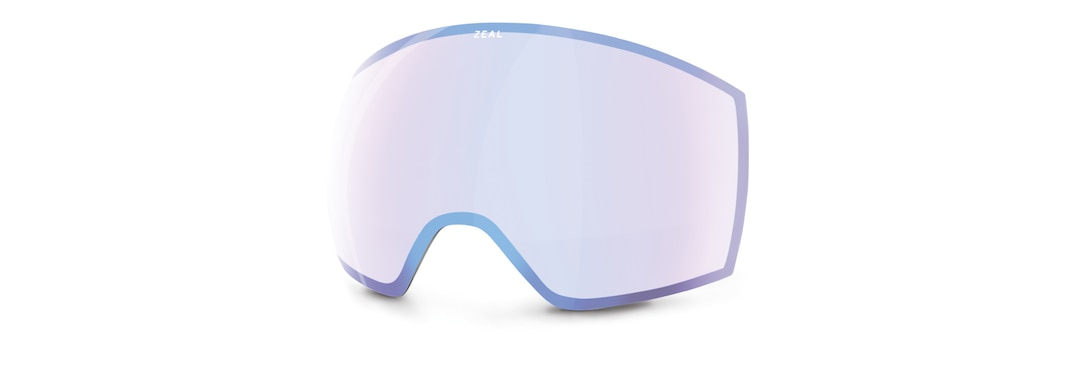 HD Camera Goggle Optimum Sky Blue Mirror Front View